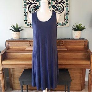 Chico's Blue Soft Jersey Sleeveless Dress